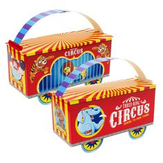 Three-Ring Circus Empty Favor Boxes Great