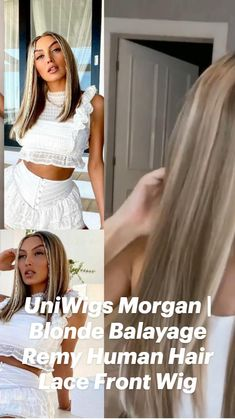 Blonde Balayage, Remy Human Hair, Hair Loss, Lace Front Wigs, Two Piece Skirt Set, American, Dresses, Women, Fashion