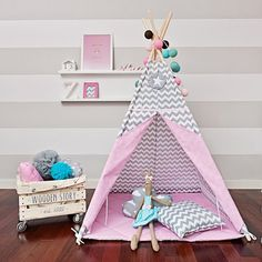 Large Set of Teepee Kids Play Tent Tipi - Sweet Moment