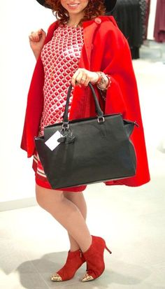 Red dress and red cape #fashion #outfits #womenswear #outfitoftheday