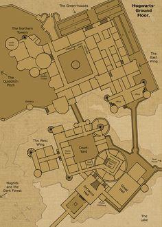 HP, Mapa de Hogwarts