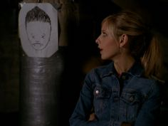 "Spike's amazingly accurate drawing of Angel. | 27 Moments You'll Never Forget From The ""Buffy"" Series Finale"