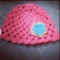 Crochet cap for a baby girl