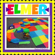 Elmer-the-Elephant Close-up (one-of-a-kind canvas painting) via RainbowsWithinReach