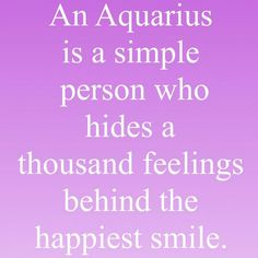 True for this Aquarius