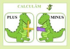 Simboluri matematice pentru operațiile de adunare și scădere și compararea numerelor Plus And Minus, Nautical Theme, Preschool, Education, Comics, Fictional Characters, Google, 1st Grades, Kid Garden
