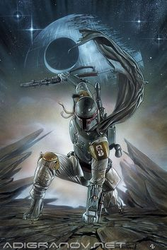 Star Wars #1 Forbidden Planet variant cover - Boba Fett by Adi Granov *...