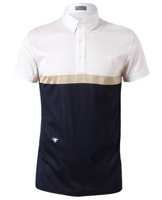 DIOR HOMME | Colour Blocked Cotton Polo Shirt