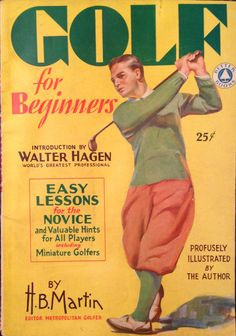 Golf For Beginners 1930 Golf Cover