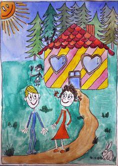 Jaś i Małgosia.ilustracja Agata W-B