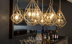 The glamorous Marquise collection, shaped like a highly-faceted crystal, is iridescent and adorned with sparkle Faceted Crystal, Crystal Beads, Crystals, 3 Light Pendant, Mini Pendant, Marquise Diamond, Lighting Design, Bulb, Ceiling Lights