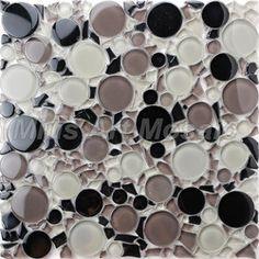 Online Shop [Mius Art Mosaic] Black mix color Circle crystal glass mosaic tile for kitchen backsplash ,bedroom decoration MC001|Aliexpress M...
