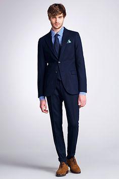 Navy Light Blue Pinstripe Custom Suit | Pinstripe suit, Blue ...