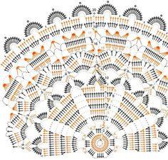 This is a motif. Scheme we start from the center of the circle crochet flower Filet Crochet, Crochet Diagram, Crochet Round, Crochet Chart, Crochet Home, Thread Crochet, Love Crochet, Crochet Granny, Crochet Flower