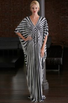 Naeem Khan Resort 2015. Black & white Art Deco style.