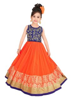 Want your kids to be special in party / functions ?? This outfit is absolute party wear for 4 - 11 years - Price 2299 - Free shipping - http://www.princenprincess.in/index.php/home/product/268/Blue%20and%20orange%20ball%20gown