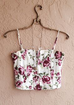 Antique roses Bustier style  crop top gypsy bohemian by BohoAngels, $45.00