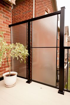 Privacy Screen Aluminum With Glass In 2019 Yard