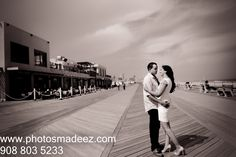 Engagement Session in Asbury Park, NJ. Hindu Wedding in New Jersey. fun e-session, photo shoot by Best Wedding Photographer PhotosMadeEz. Award Winning Photographer Mou Mukherjee. E session in beach. Beach theme