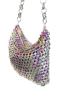Hobo Shoulder Crochet Purse Made from Pop Tabs by PopTopFashion Pop Top Crafts, Can Tab Crafts, Soda Can Crafts, Pop Tab Purse, Soda Can Tabs, Pop Cans, Craft Bags, Crochet Purses, Purses And Bags