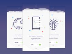 Dribbble - NotificationsApp [Intro] by Michal Soukup
