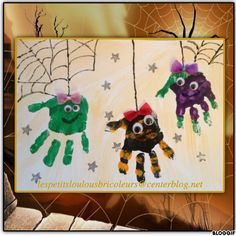 PETITES ARAIGNEES bricolage enfant Halloween Crafts For Toddlers, Toddler Halloween, Halloween Crafts For Kids, Halloween Activities, Toddler Crafts, Theme Halloween, Halloween Tags, Holidays Halloween, Halloween Decorations
