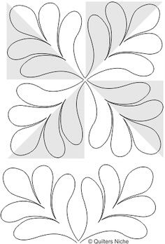 Quilting design for pinwheel or 4 patch
