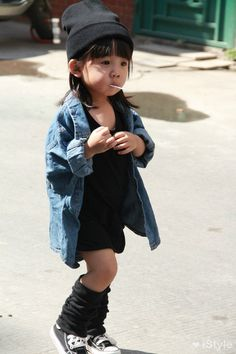 Aila Wang...too cute.  When I have kids, I'm having my designer sister make special clothes for her too