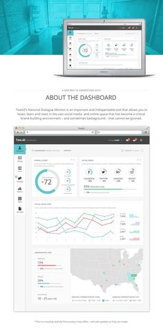Two42 National Campaign Monitor Dashboard by Heather Myers, via Behance