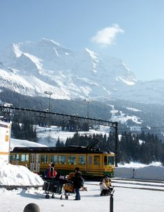 Looking at the Eiger from Wengen, Switzerland