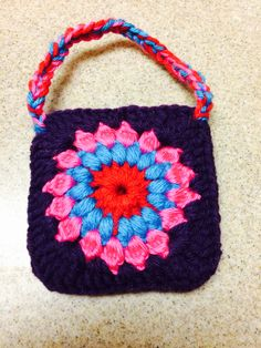 Crochet coin pouch for girls