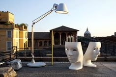 Nemo Chair from Domus Outdoor / 10 Amazing ideas on how to use floor lamps in rooftops - see more at http://modernfloorlamps.net/amazing-ideas-use-floor-lamps-rooftops/