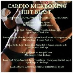 One of my ALL TIME FAVORITE workout is Cardio Kickboxing! Whatever you want to call it, Body Combat, Turbo Kick, Cardio kick etc. Hiit, Kickboxing Workout, I Love Kickboxing, Kickboxing Classes, Workout Fitness, Fitness Tips, Health Fitness, Body Combat, Bodybuilding