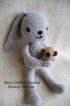 Spring is not far off.  Right? That may be wishful thinking!  My Bunny Foo Foo pattern was the first pattern I ever wrote down, and listed on Ravelry
