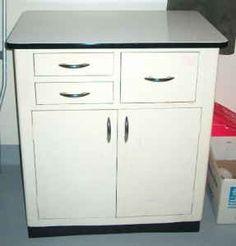 Base Cabinet Dental Doctor Office Porcelain Enamel Top Mid Century ...