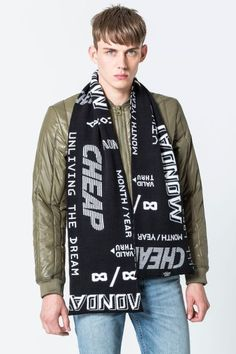 Cheap Monday Image 2 of Cheap Many Logo Scarf in Black