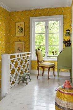 Yellow wallpaper ♡ teaspoonheaven.com