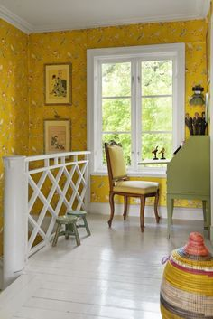 Wallpaper pip studio yellow gul tapet