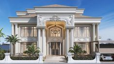 West Golf Villa is part of Classic house design - Architecture,Autodesk Max,Vray,Adobe Photoshop Classic House Exterior, Classic House Design, Bungalow House Design, Dream House Exterior, Modern House Design, House Outside Design, House Front Design, Modern House Facades, Modern Architecture House
