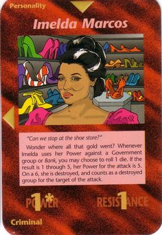 Imelda Marcos Action Card!