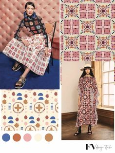 Color Trends, Design Trends, Ethnic Trends, Fashion Forecasting, London Spring, Summer Fashion Trends, Color Stories, Fashion Fabric, Vignettes