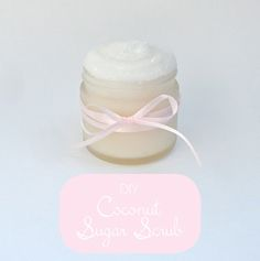 A decadent and beautiful sugar scrub made with coconut oil and white sugar. A decadent and beautiful sugar scrub made with coconut oil and white sugar. Diy Body Scrub, Diy Scrub, Beauty Care, Diy Beauty, Beauty Hacks, Beauty Stuff, Coconut Sugar, Coconut Oil, Coconut Scrub