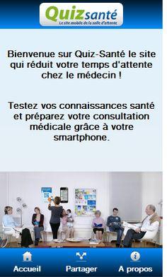 Une application santé pour salle d'attente.