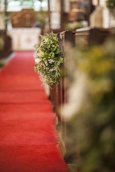 Wedding flowers - pew decorations ©Matt Harris Photography
