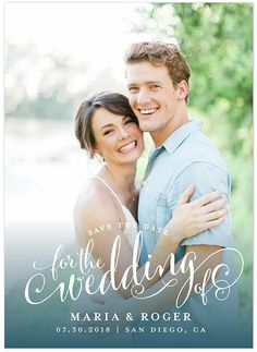 Calligraphy inspired photo save the date card from @minted and utterly perfect engagement photo from elisabethcarol