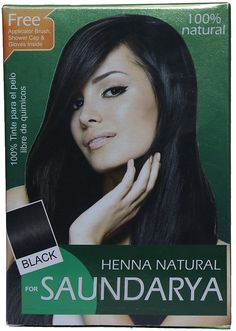 Saundarya 100% Pure Henna Powder, Black, 100 g ** This is an Amazon Affiliate link. Click image for more details.