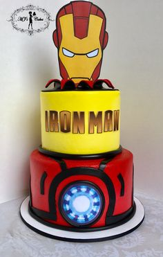 MJ's Cakes, where life is sweet Iron Man Birthday, Boy First Birthday, Iron Man Kuchen, Man Party Foods, Iron Man Kids, Iron Man Party, Ironman Cake, Bithday Cake, Superhero Party