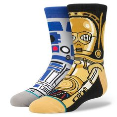 You love Star Wars, but you have a dress code at work that doesn't really go for geeky fashion. No problem because the Stance Star Wars Socks let you keep your Crazy Socks, Cool Socks, Awesome Socks, Estilo Geek, Star Wars Outfits, Stance Socks, Star Wars Droids, Blue Socks, Star Wars Gifts