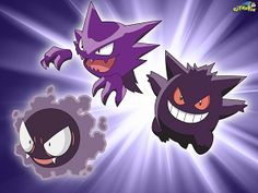pokemon gastly | Free Gastly, Haunter and Gengar Pokémon Evolution wallpaper…