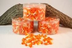 Halloween Candy Corn Tart Candles by CountryRichCreations on Etsy